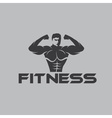 Bodybuilder Fitness Model vector image vector image