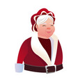 cartoon mrs claus merry christmas and new year vector image vector image