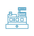 cash desk linear icon concept cash desk line vector image