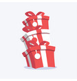 celebration gifts with ribbon vector image vector image