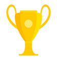 champions soccer cup icon flat style vector image