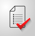 Check list icon 1 vector image vector image