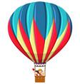 children riding hot air balloon vector image
