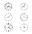 clock face with hands and roman or arabic dial vector image vector image