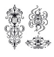 Collection of ornate design elements