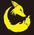 conceptual fox profile vector image vector image
