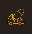 concrete truck outline colorful icon vector image