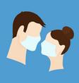 coronavirus quarantine concept medical masks vector image vector image