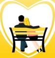 Couple on a bench vector image vector image