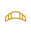 Croissant line icon wheat sign for production of