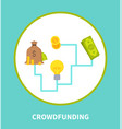 crowdfunding scheme colorful vector image vector image