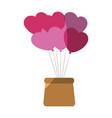 cute heart balloons vector image