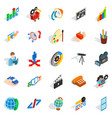 degree icons set isometric style vector image vector image