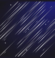 design abstract shooting star at night sky vector image