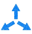 Expand Arrows Grainy Texture Icon vector image vector image