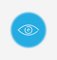 eye icon sign symbol vector image vector image