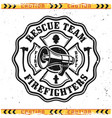 firefighter rescue team emblem or logo vector image vector image