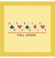 flat shading style icon full house vector image vector image