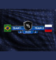 football badge soccer stadium eps 10 vector image vector image