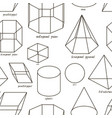 geometric shapes set pattern vector image