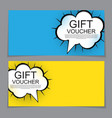 Gift Voucher Template with cartoon Background vector image vector image