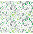 green and grey abc letter background seamless vector image vector image
