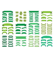 Green banners big set Beautiful blank decoration vector image vector image