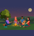 group of friends sitting vector image vector image