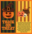halloween pumpkins and cast-iron vat of potion vector image vector image