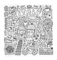 hand drawn italy doodle set vector image vector image