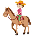 Man riding horse alone vector image vector image