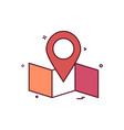 map location navigation icon desige vector image
