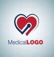 medical logo 4 vector image vector image