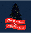 merry christmas and happy new year banner or vector image vector image