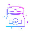 milk icon design vector image
