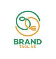 modern eco food logo vector image