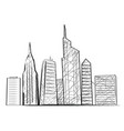 night city light sketch icon vector image