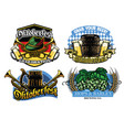 oktoberfest badge design collection vector image vector image