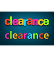 Paper clearance colorful sign vector image