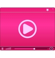 Pink video player Icon vector image