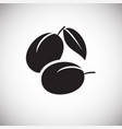 plums on white backgorund vector image
