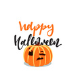 Pumpkin holiday Happy Halloween isolated vector image