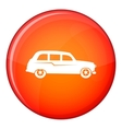 Retro car icon flat style vector image vector image