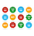sale star shape badges vector image vector image