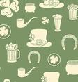 Seamless background St Patricks attributes Retro vector image
