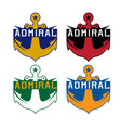 set anchor sport crests template design vector image