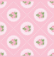 shabchic rose seamless pattern background vector image vector image