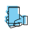 smartphone device icon vector image vector image