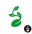 sprout logo one shape style plant with seed vector image