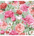 Summer Seamless Watercolor Pattern with Pink vector image vector image